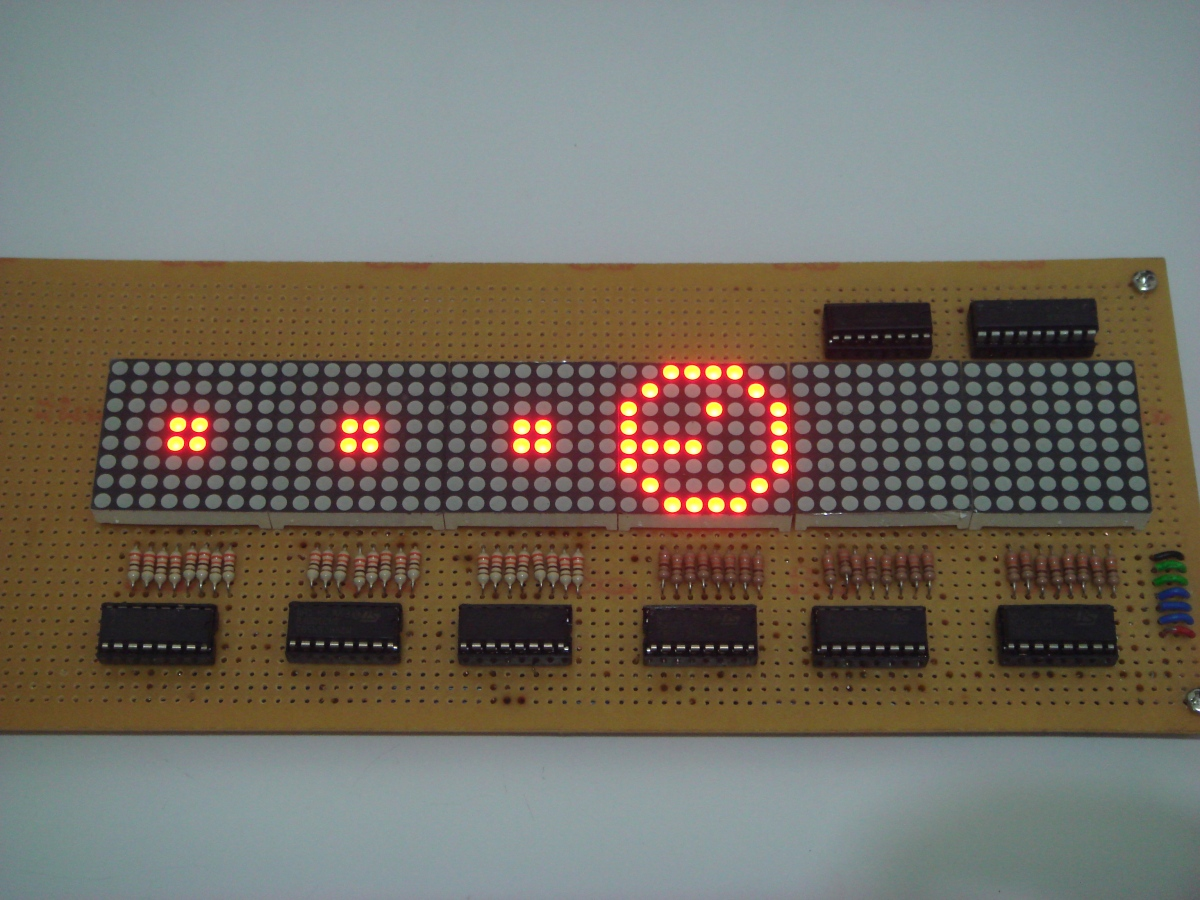Development of 48x8 Led Matrix Display