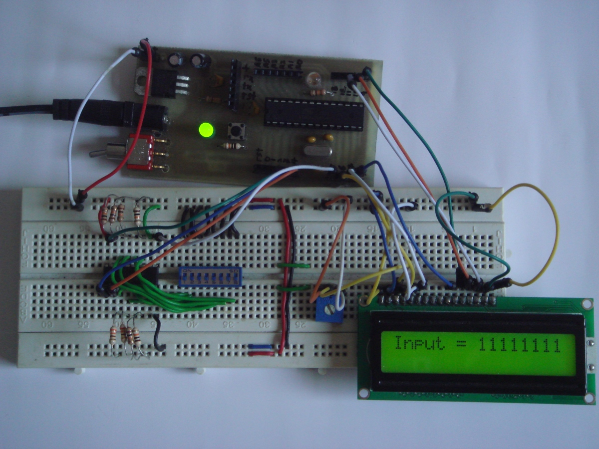 74HC165 8 bit Parallel in/Serial out Shift Register