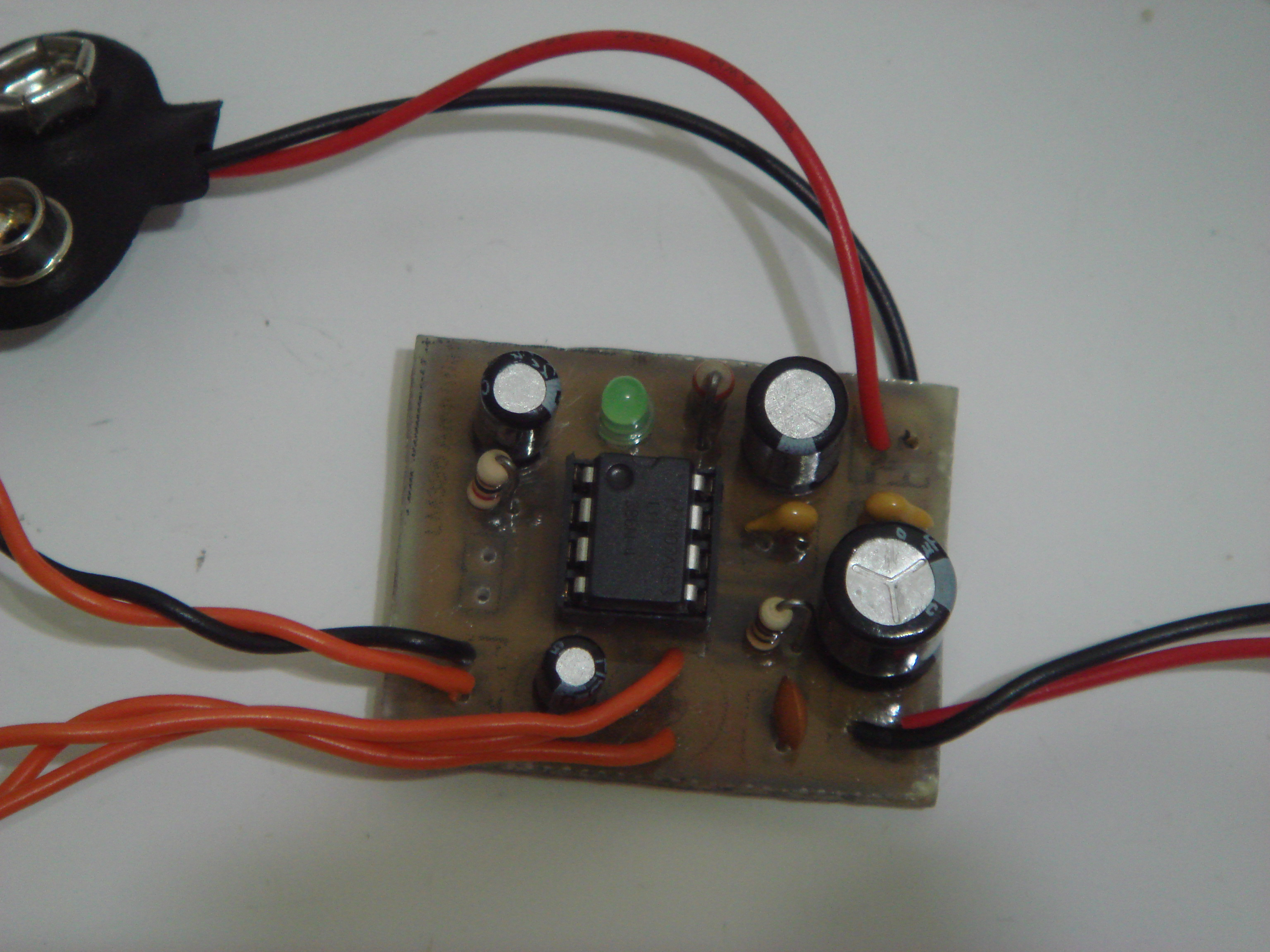 Lm386 Low Voltage Audio Power Amplifier Zx Lee The Infrared Receiver Circuit Amplifiercircuit Diagram Top View Of Pcb